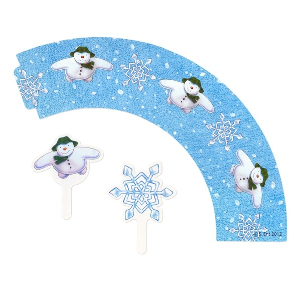 The Snowman - Cupcake Wrappers & Picks - 12pk