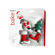 Christmas Cookie Cutters - Set Of 4 (Santa)