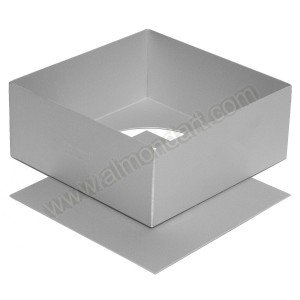 "10"" Square Loose Bottom Cake Pan"