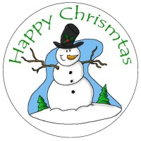 Jolly Snowman Icing Disc - 190mm