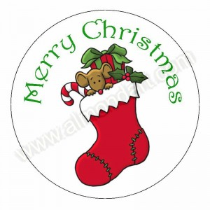 Christmas Stocking Icing Disc - 190mm