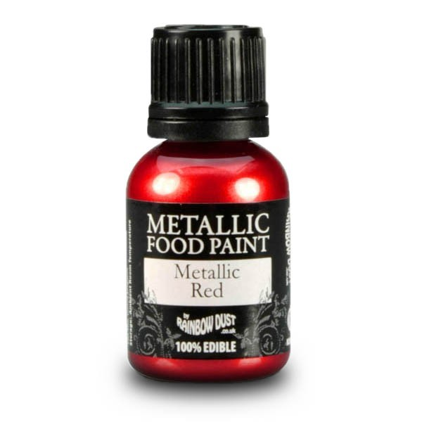 Metallic Red - Metallic Food Paint - 25ml
