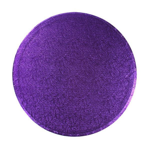 "10"" Round Purple Cake Drum"