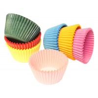 Multi-Coloured Mini Muffin Cases - 100pk