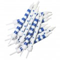 Navy and White Polka Dot Stripe Candles - 12pk