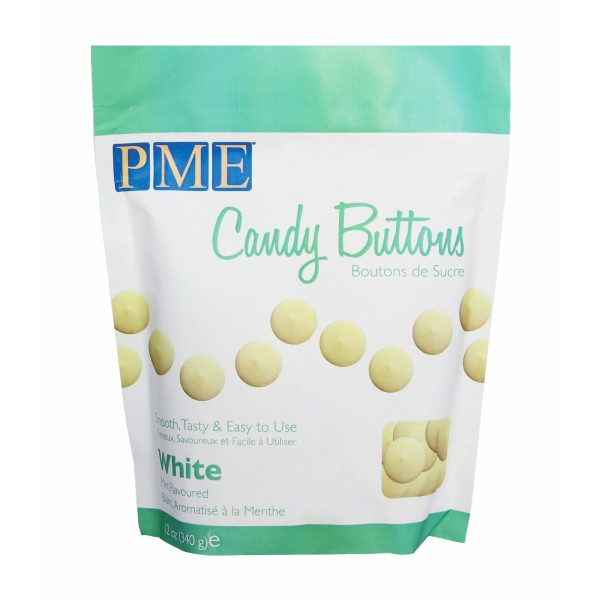 PME White Mint Flavoured Candy Buttons 12oz
