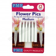 Medium Flower Pics - 12/pk