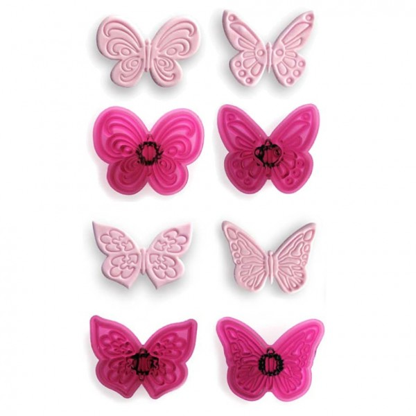 Lacy Butterflies - Set of 4