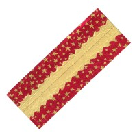 Red/Gold Star Christmas Design Foil Cake Frill