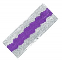 Silver Foil / Purple Band Cake Frill