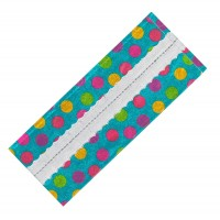 Multi Colour Polka Dot/Silver Band Cake Frill