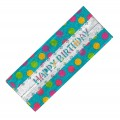 "Multi Colour Polka Dot ""Happy Birthday"" Cake Frill"