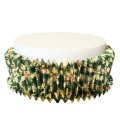 Green Christmas Design Cake Collar - Expanding Foil