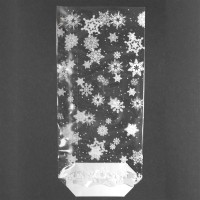 Snowflake Confectionery Bags/Ties pk/12