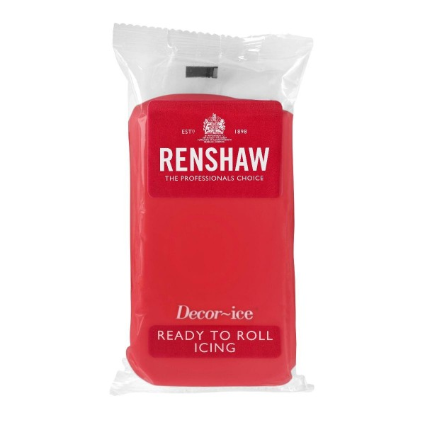 Renshaw Poppy Red Ready To Roll Icing - 500g