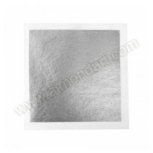 Silver Leaf Transfer Square - 3¼""