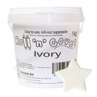 Ivory Roll 'n' Cover Sugarpaste - 1kg