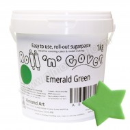 Emerald Green Roll 'n' Cover Sugarpaste - 1kg
