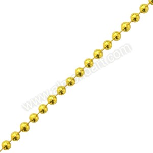 Gold Pearls On A String - 5mm x 1m