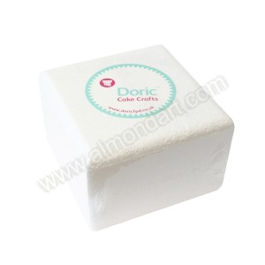 "6"" Square 4"" Deep Chamfered Edge Cake Dummy"