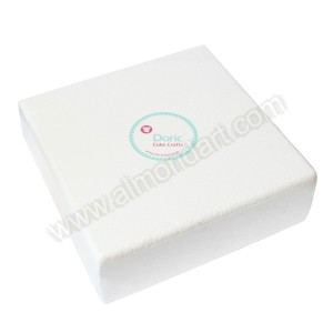 "12"" Square 4"" Deep Chamfered Edge Cake Dummy"