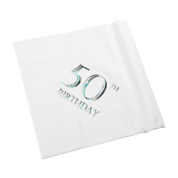 50th Birthday Napkin - 3 ply - 15pk
