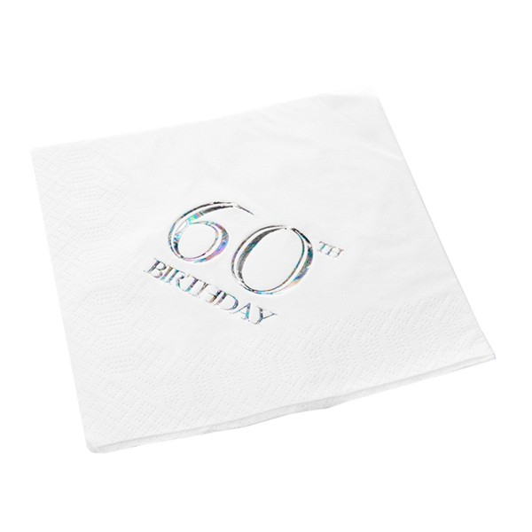 60th Birthday Napkin - 3 ply - 15pk