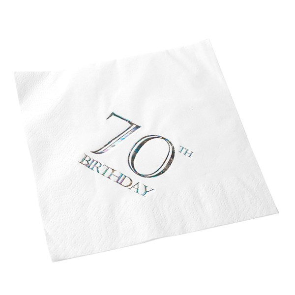 70th Birthday Napkin - 3 ply - 15pk