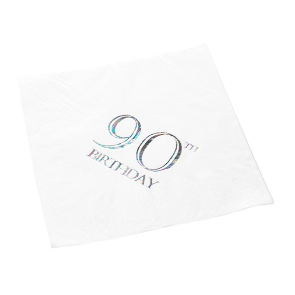 90th Birthday Napkin - 3 ply - 15pk