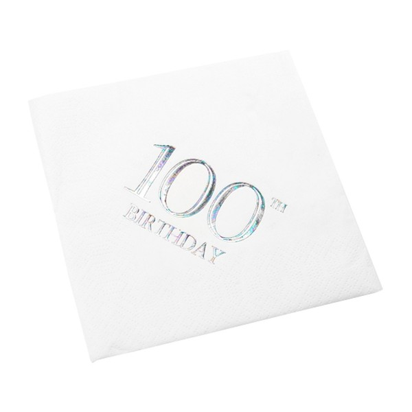 100th Birthday Napkin - 3 ply - 15pk