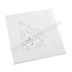 25th Wedding Anniversary Napkin - 3 ply - 15pk
