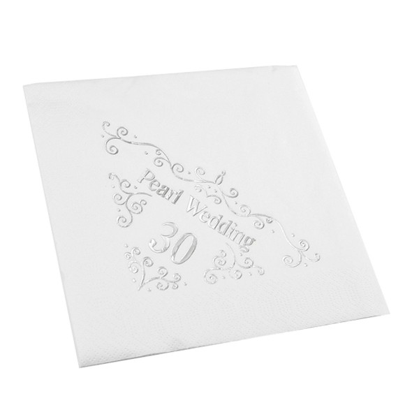 30th Wedding Anniversary Napkin - 3 ply - 15pk
