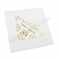 50th Wedding Anniversary Napkin - 3 ply - 15pk