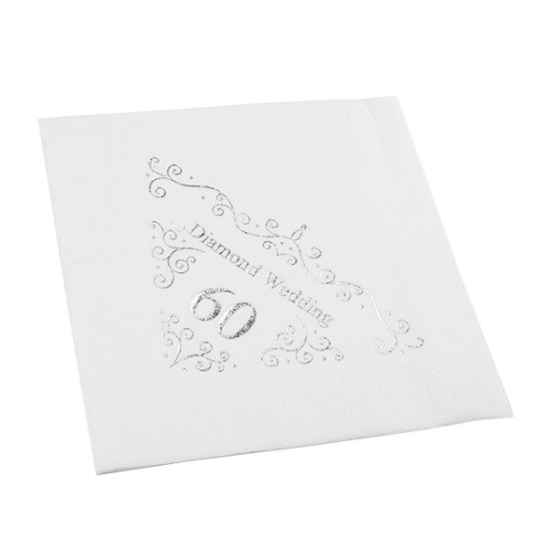 60th Wedding Anniversary Napkin - 3 ply - 15pk