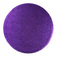 "12"" Round Purple Cake Drum"