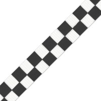Black Printed Block Ribbon 25mm x 1m