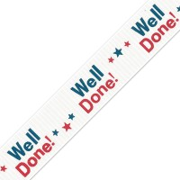 Well Done Printed Ribbon 25mm x 1m