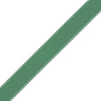 Jade Green & White Grosgrain Side Stitch 25mm x 1m