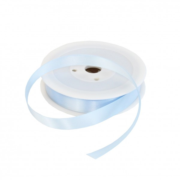 15mm Baby Blue Double Sided Satin Ribbon - 25m Roll