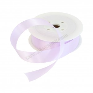 25mm Lilac Double Sided Satin Ribbon - 25m Roll