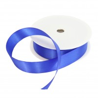 25mm Royal Blue Double Sided Satin Ribbon - 25m Roll