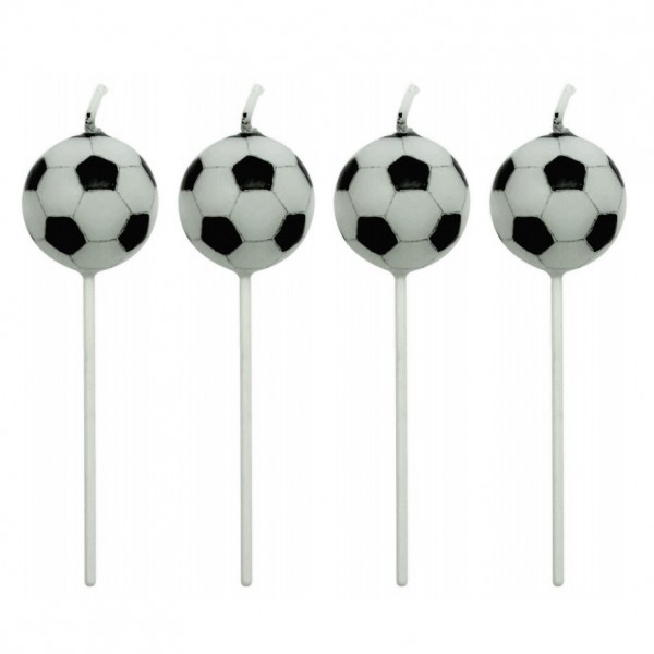 Football Ball Candles - 4pk