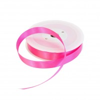 15mm Fuchsia Double Sided Satin Ribbon - 25m Roll