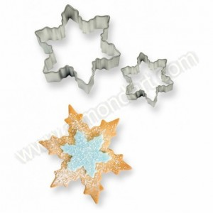 Cookie and Cake Snowflake Cutter 2 pc