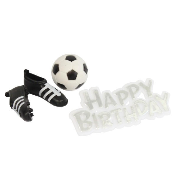 Happy Birthday Football Cake Decoration Set
