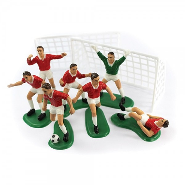 Red Football Cake Decoration Set