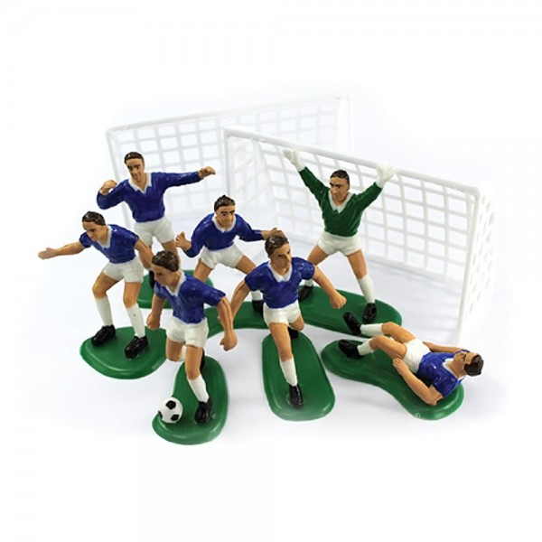Blue Football Cake Decoration Set