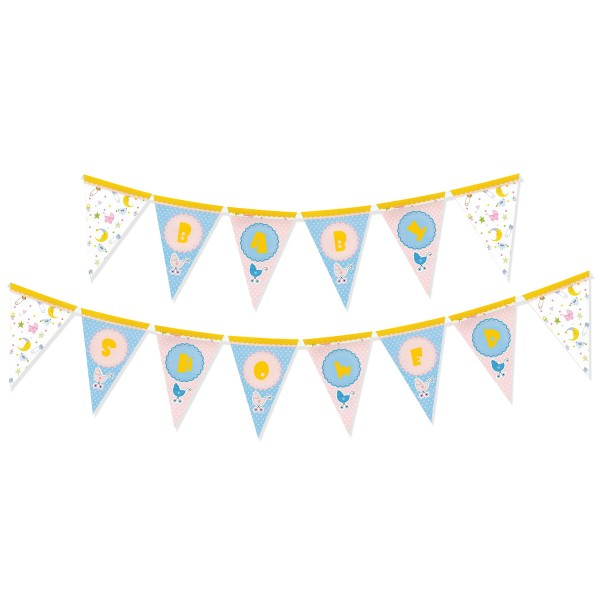 Baby Shower Bunting - 3 metres - 17 flags