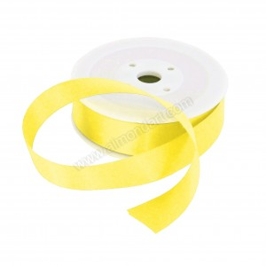 25mm Pale Yellow Double Sided Satin Ribbon - 25m Roll