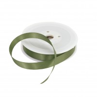 15mm Olive Green Double Sided Satin Ribbon - 25m Roll